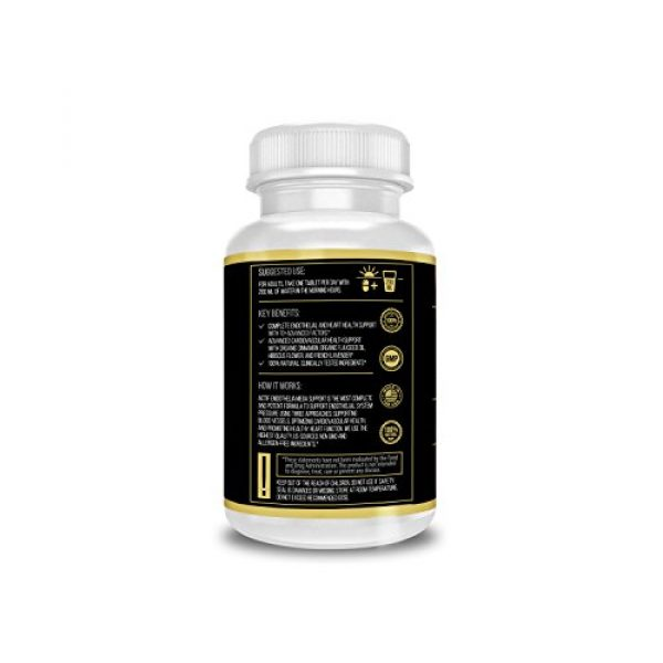 ACTIF Calcium Supplement 3 Actif Endothelial Mega Support with 10+ Factors, Maximum Endothelial System Support, Non-GMO, 60 Count