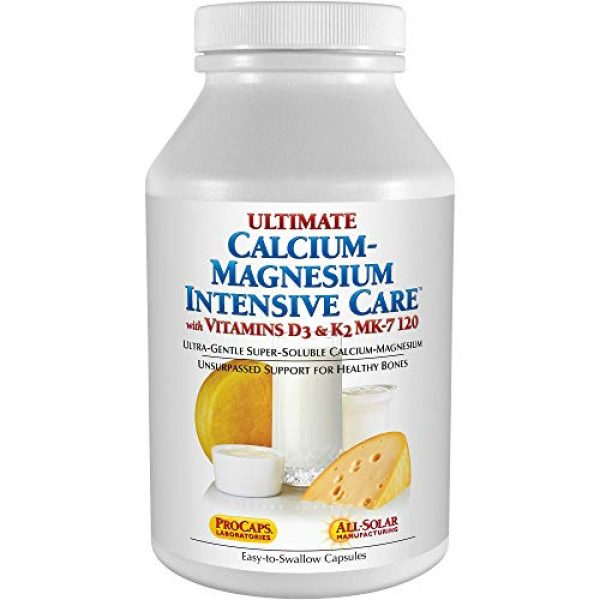 ANDREW LESSMAN Calcium Supplement 1 Andrew Lessman Ultimate Calcium-Magnesium Intensive Care with Vitamin D3 & K2 MK7-120 mcg - 180 Capsules - Bone and Skeleton Health Essentials. Gentle, Easy to Swallow, Super Soluble. No Additives