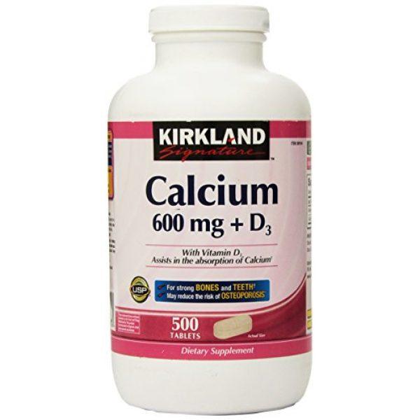 Kirkland Signature Calcium Supplement 1 Kirkland Signature Calcium, 600 mg+D3, 500-Count Tablets