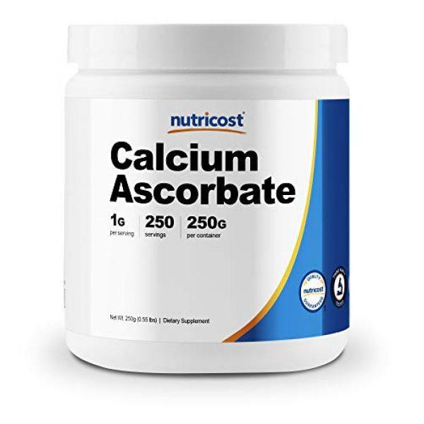Nutricost Calcium Supplement 1 Nutricost Calcium Ascorbate Powder (Vitamin C and Calcium Complex), 250G - Non-GMO, 250 Serving