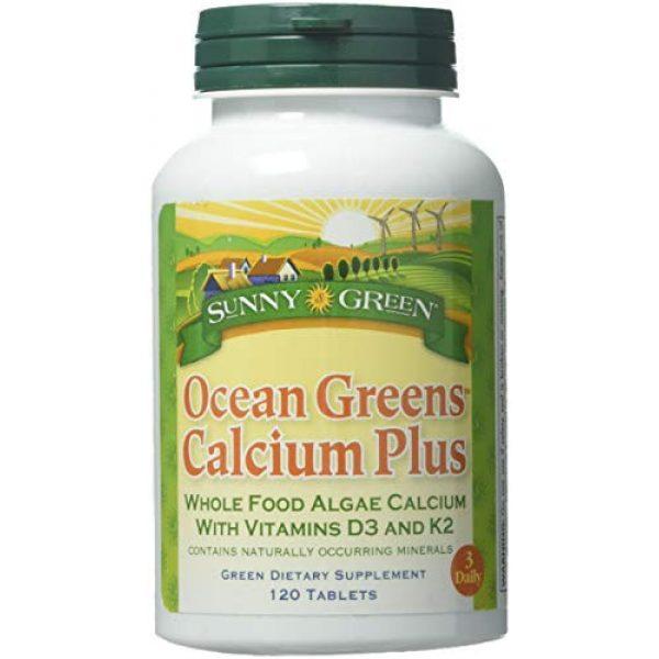 Sunny Green Calcium Supplement 1 Sunny Green Ocean Greens Calcium Plus, 120 Count
