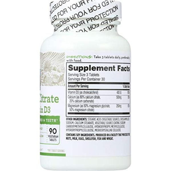 365 by Whole Foods Market Calcium Supplement 3 365 Everyday Value, Cal-Mag Citrate with Vitamin D3, 90 ct