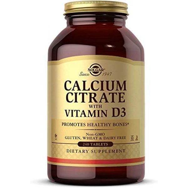 Solgar Calcium Supplement 1 Solgar Calcium Citrate with Vitamin D3 Tablets, 240 Count (Pack of 1)