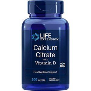 Life Extension Calcium Supplement 1 Life Extension Calcium Citrate with Vitamin D, 200 Vegetarian Capsules