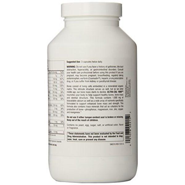 Source Naturals Calcium Supplement 3 Source Naturals Ultra-Cal 1000, Comprehensive Bone Health, 240 Capsules