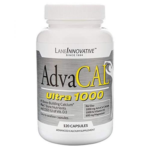 LANE LABS Calcium Supplement 1 Lane Innovative - AdvaCAL Ultra 1000, Bone Building Calcium, Including Vitamin D3 and Magnesium, Easy Absorption (120 Capsules)