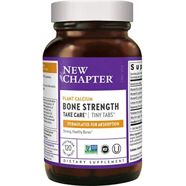New Chapter Calcium Supplement 1 New Chapter Calcium Supplement - Bone Strength Whole Food Calcium with Vitamin K2 + D3 + Magnesium, Vegetarian, Gluten Free 240ct Tiny Tabs (40 Day Supply)