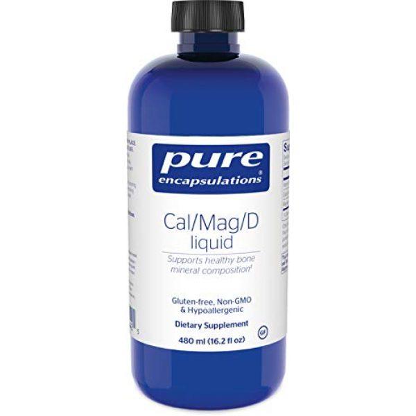 Pure Encapsulations Calcium Supplement 1 Pure Encapsulations - Cal/Mag/D Liquid - Calcium, Magnesium and Vitamin D in a Convenient Liquid Form - 16.2 fl. oz.