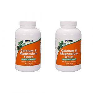 NOW Foods Calcium Supplement 1 Now Foods, (2 Pack) Calcium & Magnesium, with Vitamin D-3 and Zinc, 240 Softgels