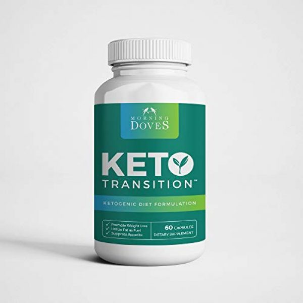 Morning Doves Calcium Supplement 1 Morning Doves Keto Pills :: KetoTransition Supplement with BHB :: cGMP Compliant Food Grade :: Exogenous Ketones Pills Optimally Formulated for Transition to Ketosis