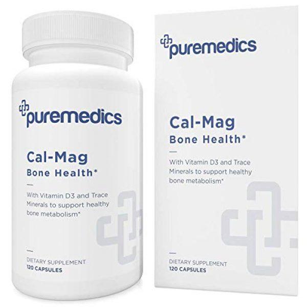 PUREMEDICS Calcium Supplement 1 PUREMEDICS Cal Mag Zinc - Calcium Magnesium Zinc Capsules to Support Bone Health - with Trace Minerals and Vitamin D - 3rd Party Lab Certified - Hypoallergenic - 120 Capsules