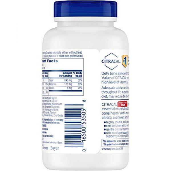 CITRACAL Calcium Supplement 4 Citracal Maximum Plus Coated Caplets, 120 ea