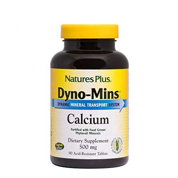 Nature's Plus Calcium Supplement 1 NaturesPlus Dyno Mins Calcium - 90 Vegetarian Tablets - Enhanced Absorption Bone Health & Strength Support - Hypoallergenic, Gluten-Free - 45 Servings