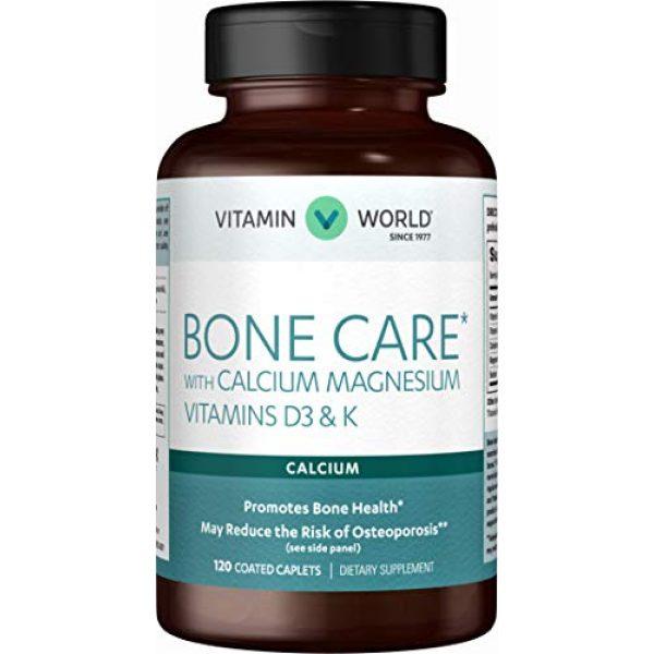 Vitamin World Calcium Supplement 1 Vitamin World Bone Care* with Calcium Magnesium Vitamins D3 & K 120 caplets
