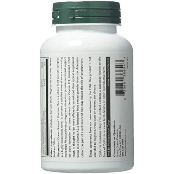 Sunny Green Calcium Supplement 2 Sunny Green Ocean Greens Calcium Plus, 120 Count