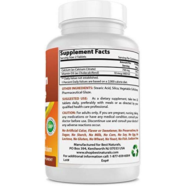 Best Naturals Calcium Supplement 5 Best Naturals Calcium Citrate with Vitamin D-3 120 Tablets