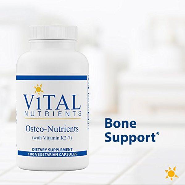 Vital Nutrients Calcium Supplement 3 Vital Nutrients - Osteo-Nutrients (with Vitamin K2-7) - Bone Support Formula - 180 Vegetarian Capsules per Bottle