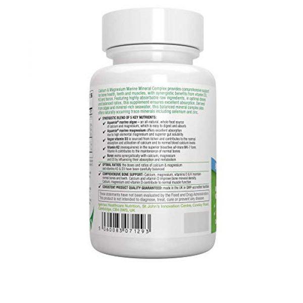 Igennus Healthcare Nutrition Calcium Supplement 4 Calcium & Magnesium Advanced Bone Supplement, Algae Mineral Complex with Boron, Vitamins K2 & D3, Vegan, 90 Capsules, by Igennus