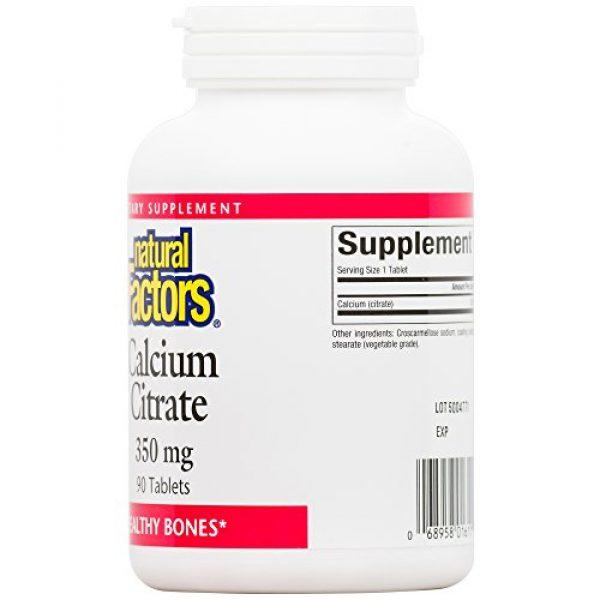 Natural Factors Calcium Supplement 3 Natural Factors, Calcium Citrate, Helps Maintain Strong Bones and Teeth, 90 tablets (90 servings)