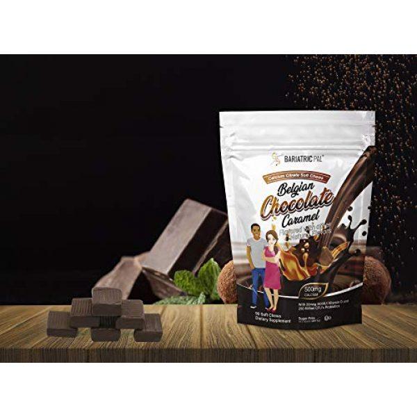 BariatricPal Calcium Supplement 5 BariatricPal Sugar-Free Calcium Citrate Soft Chews 500mg with Probiotics - Belgian Chocolate Caramel (1-Pack (90 Count))