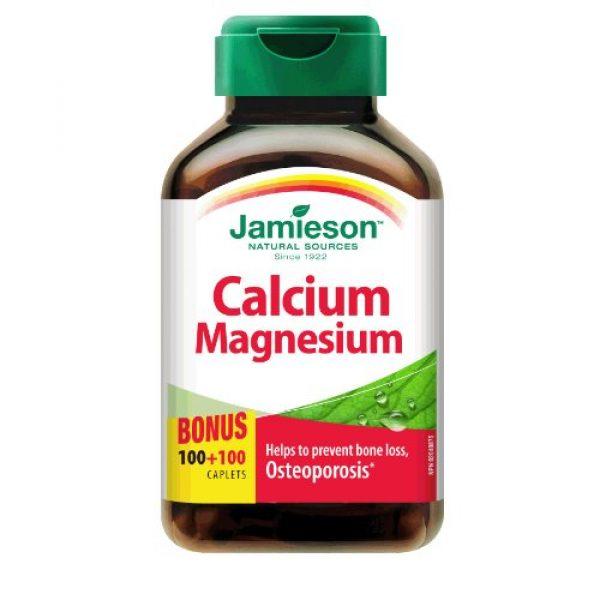 Jamieson Calcium Supplement 1 Jamieson Calcium & Magnesium, 100 Caplets + 100 Free Bonus