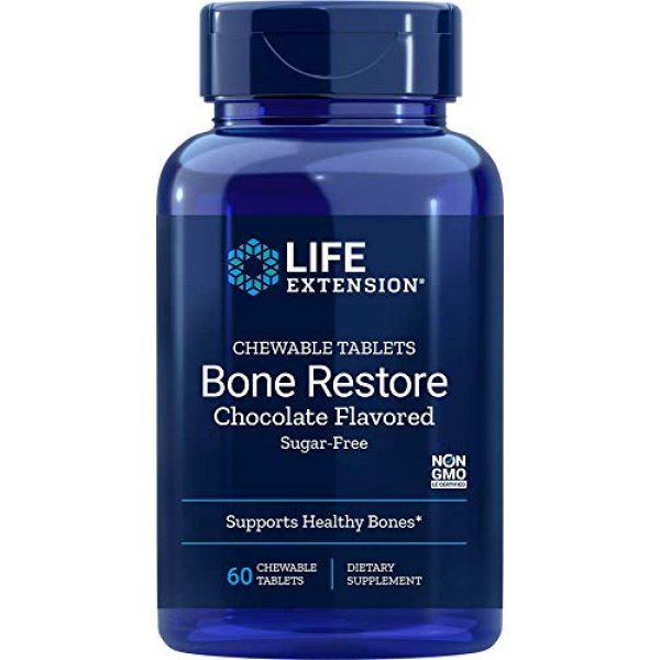 Life Extension Calcium Supplement 1 Life Extension Bone Re Sugar-Free Chocolate, 60 Count