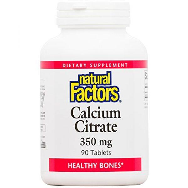 Natural Factors Calcium Supplement 1 Natural Factors, Calcium Citrate, Helps Maintain Strong Bones and Teeth, 90 tablets (90 servings)