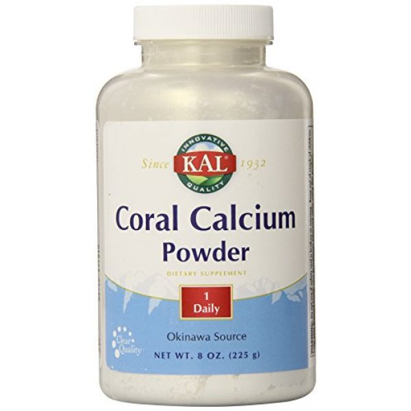 KAL Calcium Supplement 1 KAL Coral Calcium Powder 1000 mg Tablets, Unflavored, 8 Ounce