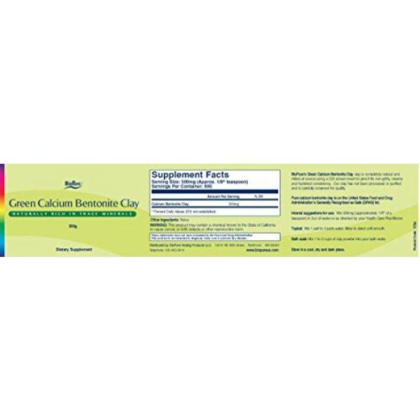 BioPure Calcium Supplement 2 Green Calcium Bentonite Clay - 300 Grams
