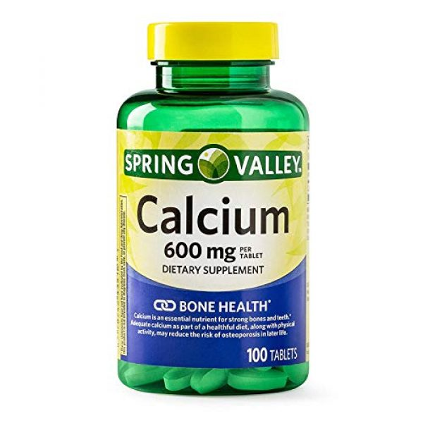 Spring Valley Calcium Supplement 1 Spring Valley - Calcium 600 mg (Pack of 2) 200 Total Coated Tablets