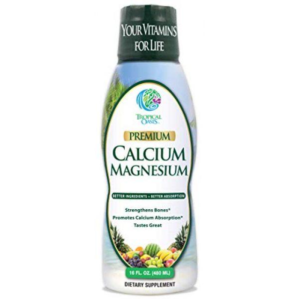 Tropical Oasis Calcium Supplement 1 Tropical Oasis Liquid Calcium & Magnesium - Natural formula w/ support for strong bones - Liquid vitamins w/ calcium, - 16oz, 32 Serv.