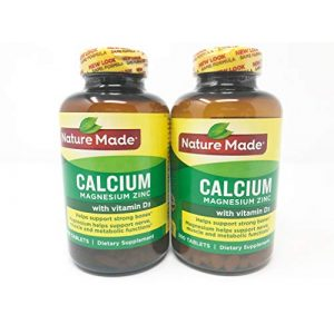 Nature Made Calcium Supplement 1 Nature Made Calcium Magnesium Zinc Tablets with Vitamin D, 300 Count (Pack of 2)
