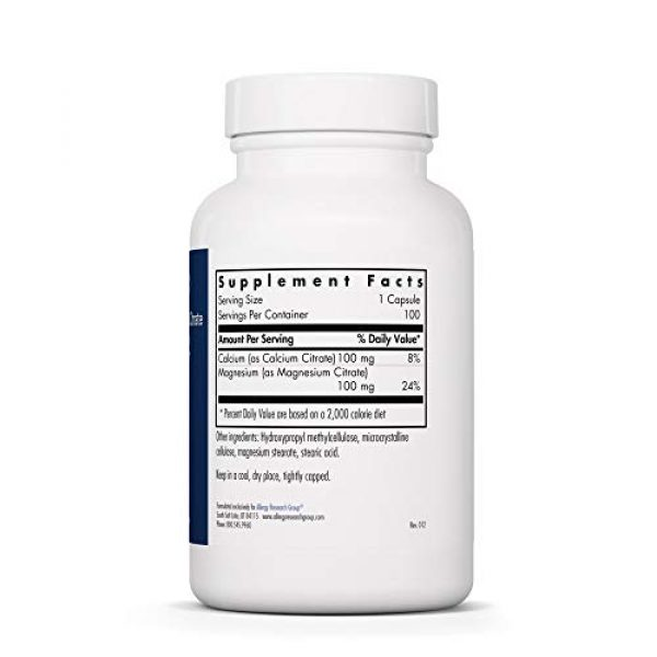 Allergy Research Group Calcium Supplement 2 Allergy Research Group - Calcium Magnesium Citrate - 100 [Health and Beauty]