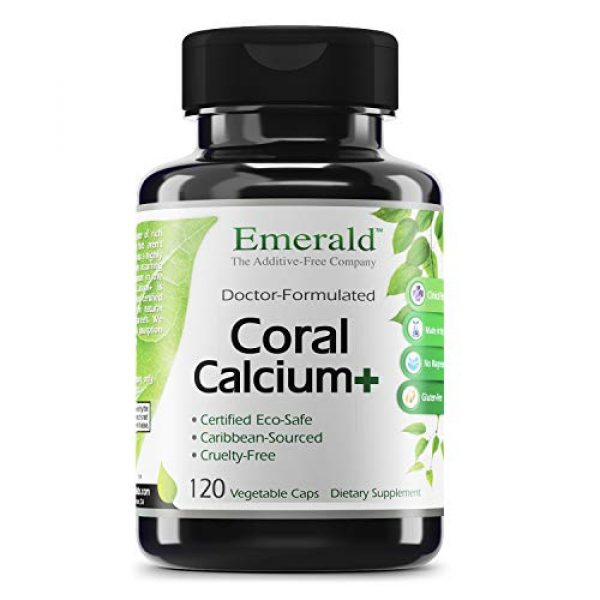 Emerald Labs Calcium Supplement 1 Coral Calcium Plus -Highly Ionizable Coral Calcium from the Caribbean Sea - Helps Balance pH Levels, Support Strong Bones & Teeth, Weight Loss - Emerald Laboratories - 120 Vegetable Capsules