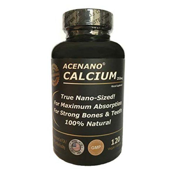 AceNano Calcium Supplement 1 AceNano Nano Calcium Supplement, 1 Bottle, True Nano Sized Calcium Powder in Capsule for Super Absorption, Made in USA