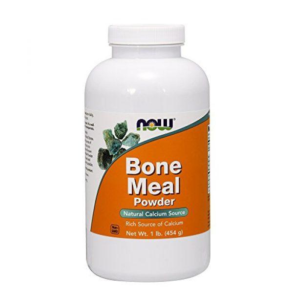 NOW Foods Calcium Supplement 1 NOW Foods, Bone Meal Powder, 1 lb. (454 g)