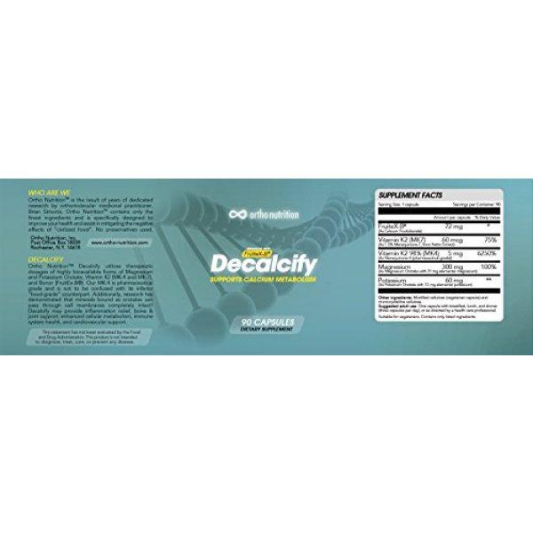 Ortho Nutrition Calcium Supplement 2 Decalcify - Fruitex-B, Vitamin K2 (MK4 and MK7), Magnesium and Potassium Orotate, 90 Vegetarian Capsules