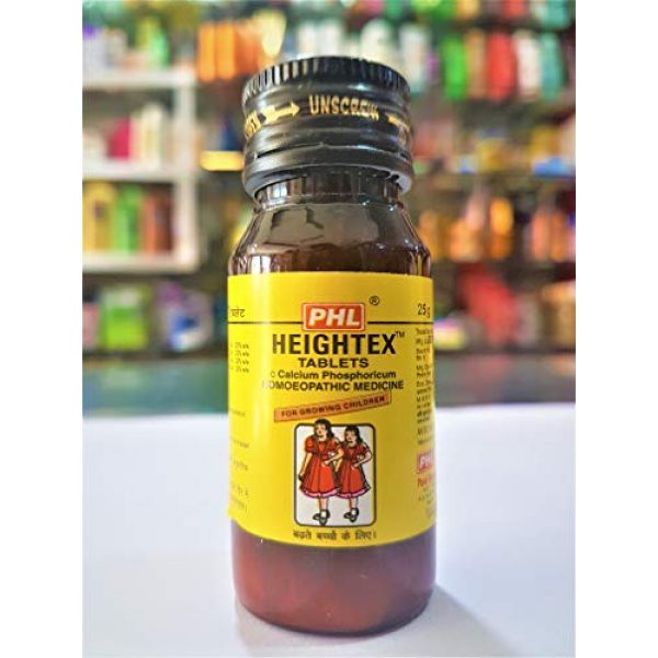 Generic Calcium Supplement 5 Heightex 25gm Tablets Calcium Phosphoricum Homeopathic Medicine for Growing Children PHL