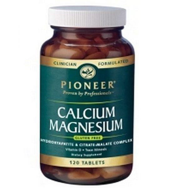 Pioneer Calcium Supplement 1 Pioneer Calcium Magnesium Tablets, 120-Count Bottle