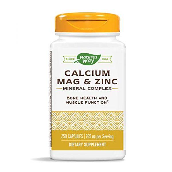Nature's Way Calcium Supplement 1 Nature's Way Calcium, Magnesium & Zinc, 765 mg per Serving, 250 Capsules