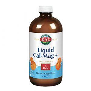 KAL Calcium Supplement 1 KAL Liquid Cal-Mag+ Vitamin D-3 | Natural Orange Flavor | Healthy Bones, Muscle & Heart Support | 30 Serv | 16 oz