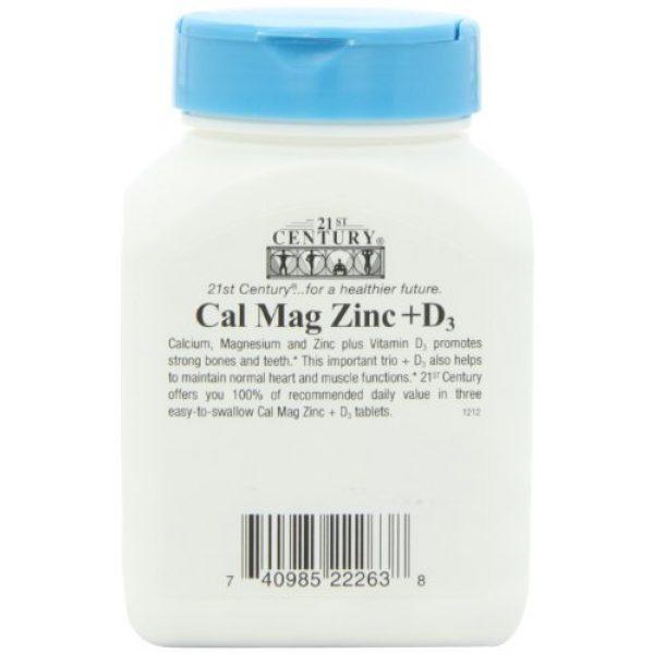 21st Century Calcium Supplement 2 21st Century Cal Mag Zinc +D Tablets, 90 Count (Pack of 2)