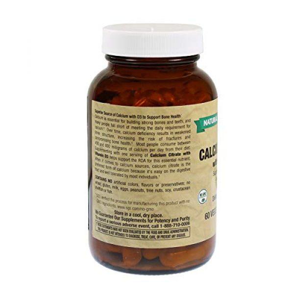 Natural Vitamin Co. Calcium Supplement 2 Natural Vitamin Co. - Calcium Citrate with Vitamin D3, Calcium 630 mg, Vitamin D3 400 IU, 60 Tablets, 1 Month Supply, Gluten Free, Vegetarian (60)