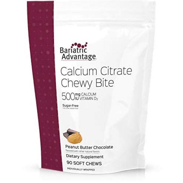 Bariatric Advantage Calcium Supplement 1 Bariatric Advantage - 500mg Calcium Citrate Chewy Bite - Peanut Butter Chocolate, 90 Count