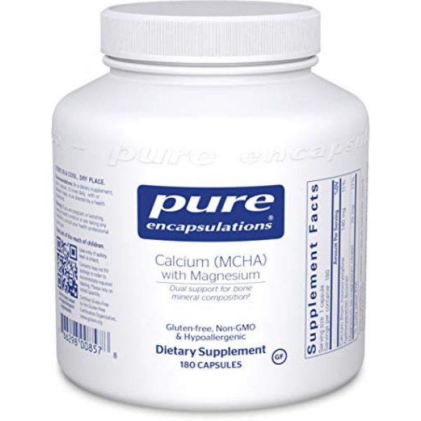 Pure Encapsulations Calcium Supplement 1 Pure Encapsulations - Calcium MCHA with Magnesium - Hypoallergenic Dietary Supplement for Bone Support - 180 Capsules
