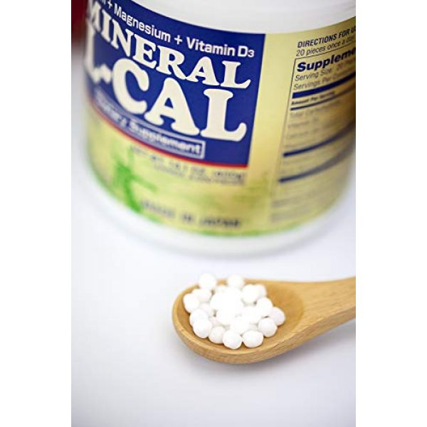 Umeken Calcium Supplement 5 Umeken Mineral L Cal (Large Bottle), 6 Month Supply- Calcium Enriched with Magnesium, Vitamin D3 and Minerals. Water Soluble and Fast Absorbing. Made in Japan.