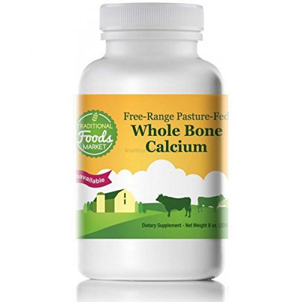Traditional Foods Market Calcium Supplement 1 Whole Bone Calcium - Free-Range & Pasture-Fed, 8oz, by Traditional Foods Market