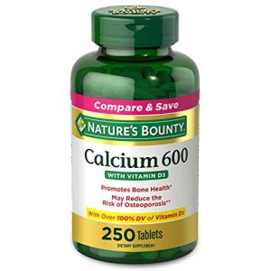 Nature's Bounty Calcium Supplement 1 Calcium Carbonate & Vitamin D by Nature's Bounty, Supports Immune Health & Bone Health, 600mg Calcium & 800IU Vitamin D3, 250 Tablets
