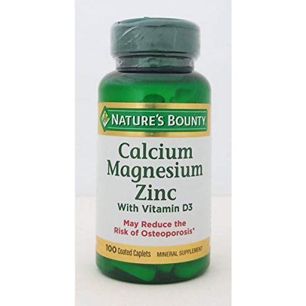 Nature's Bounty Calcium Supplement 1 Nb VIT Cal/Mag/Zinc Size 100s Nature's Bounty Calcium-Magnesium-Zinc Caplets 100 Count
