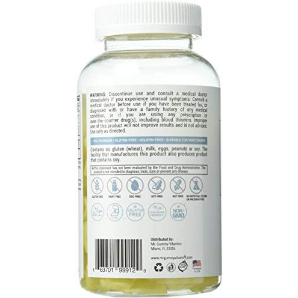 Lutrovita Calcium Supplement 3 Lutrovita Sugar Free Calcium with Vitamin D Gummy, Lemon, 200 Count